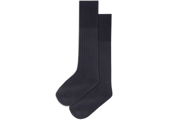Boys 3/4 Plain Long Socks - Navy