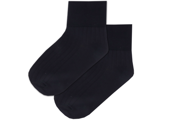 Girls Anklets Socks - Navy Nylon
