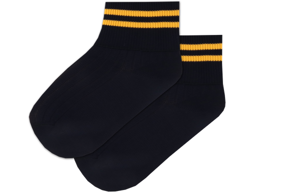 Girls Striped Anklets - Isikhum Navy/Gold