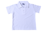 Golf Shirt Plain - White Self Collar