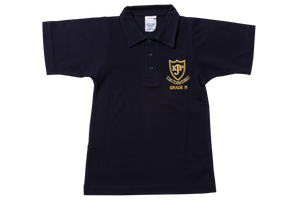 Golf Shirt Navy Emb - Kloof Junior Primary Grade R