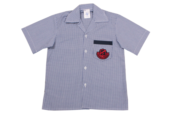 Shortsleeve Check  Emb Shirt - Clarence