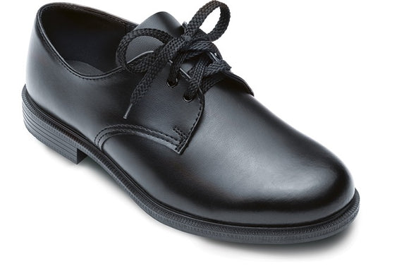 Buccaneer Lace Up School Shoes - Black