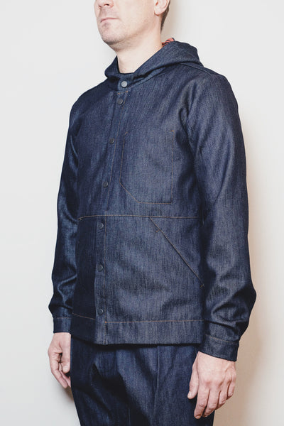 PARKA SHIRT RAW DENIM