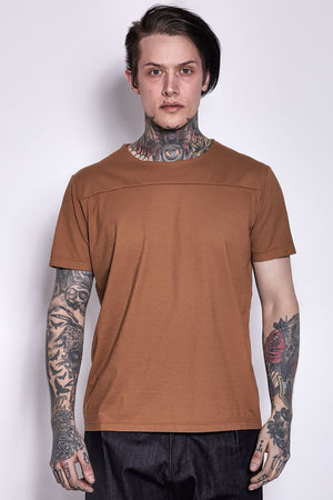 Cotton T-shirt Leather
