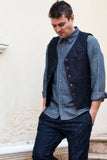 HEAVY VEST RAW DENIM