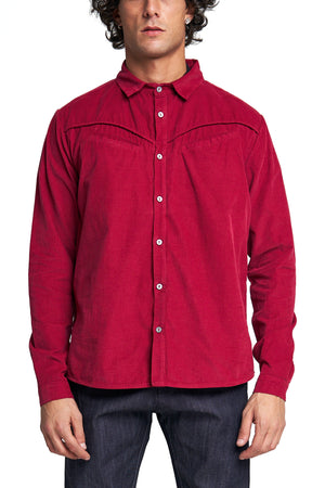 THE DOUBLE WELT POCKET SHIRT - 7.5oz PINWALE CORDUROY