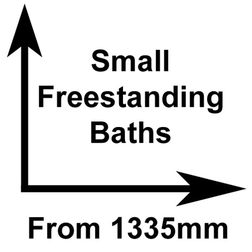 Small freestanding baths classical baths for Small baths 1200
