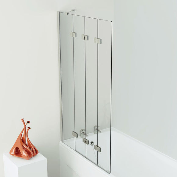 Kudos 4 Panel Compact Bath Screen 6mm Glass 1500x900mm