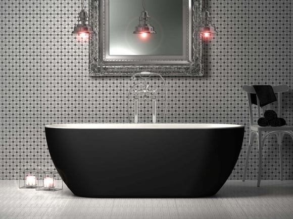 Charlotte Edwards Belgravia 1700mm Bath Now Available in Matt Black