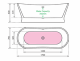 Charlotte Edwards Jupiter Contemporary Boat Bath Technical Drawing