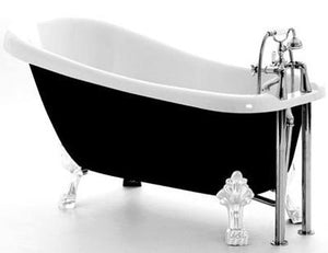Royce Morgan Chatsworth 1530mm Small Slipper Bath with Gloss Black Exterior