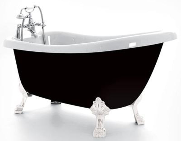 Royce Morgan Crystal Slipper Bath 1680mm with Gloss Black Exterior