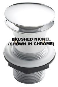 E328BN Brushed Nickel Easy Clean Click Clack Waste, Slotted