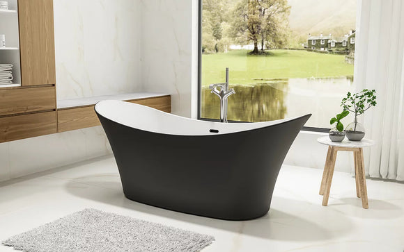 CE11017MB Charlotte Edwards Harrow 1700 Matt Black Bath