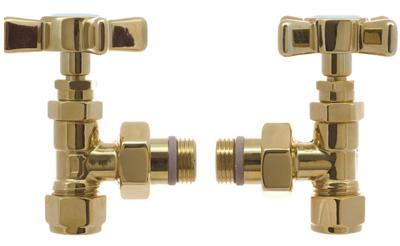 DQ Traditional Angled Manual Valves, Polished Nickel