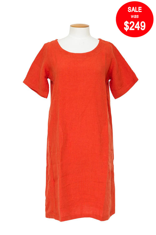 Baker Street - 5008 Simple Linen Dress
