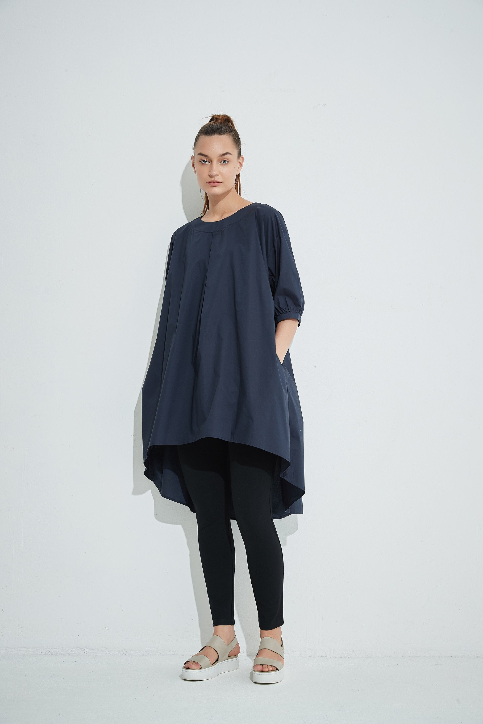 Tirelli - 20A2361 Pleat Front Tunic