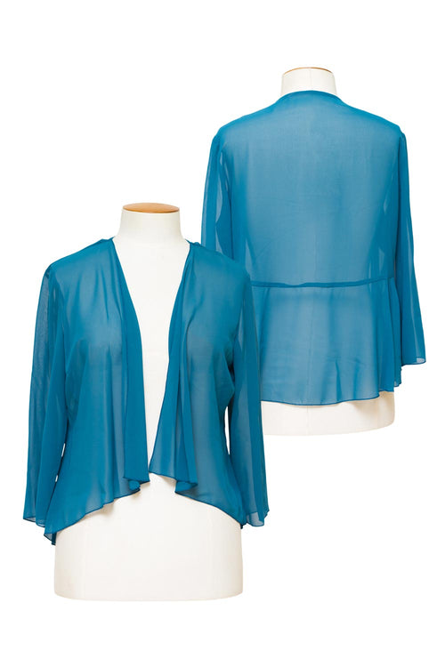 layla-jones-jesse-harper-teal-calvin-klein-chiffon-jacket-with-peplum