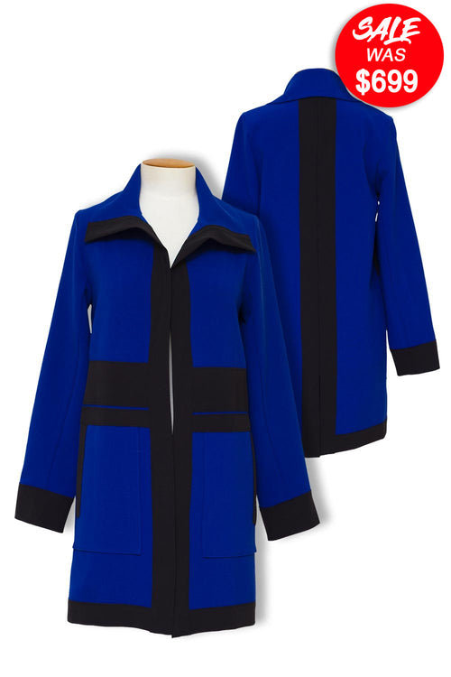 Paula Ryan - 8110 Black Trim Contrast Coat