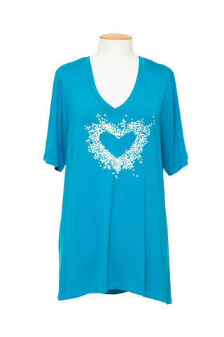 Swish - 30017 Diamond Etched Ruffle Tunic