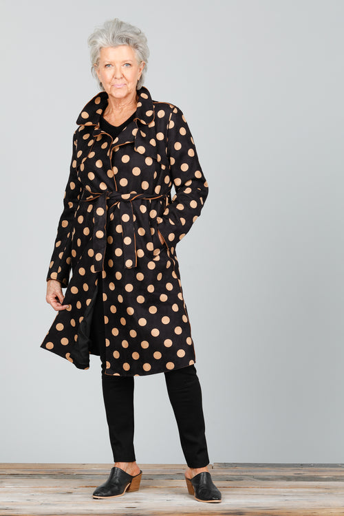 Brave and True - BT2449-1 Safari Suede Trench Coat