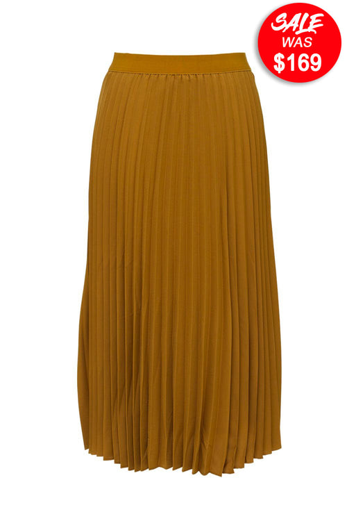 Berlin - D224 Plain Pleated Skirt