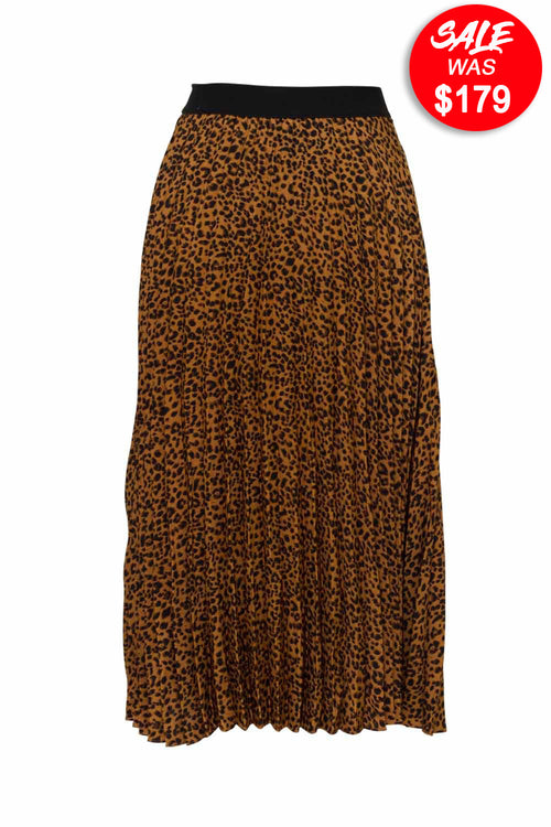 Berlin - D226 Printed Pleated Skirt