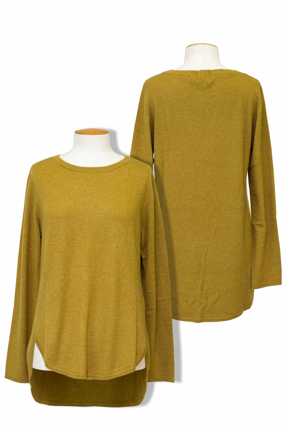Bridge and Lord - BL1605 Curved Hem Sweater