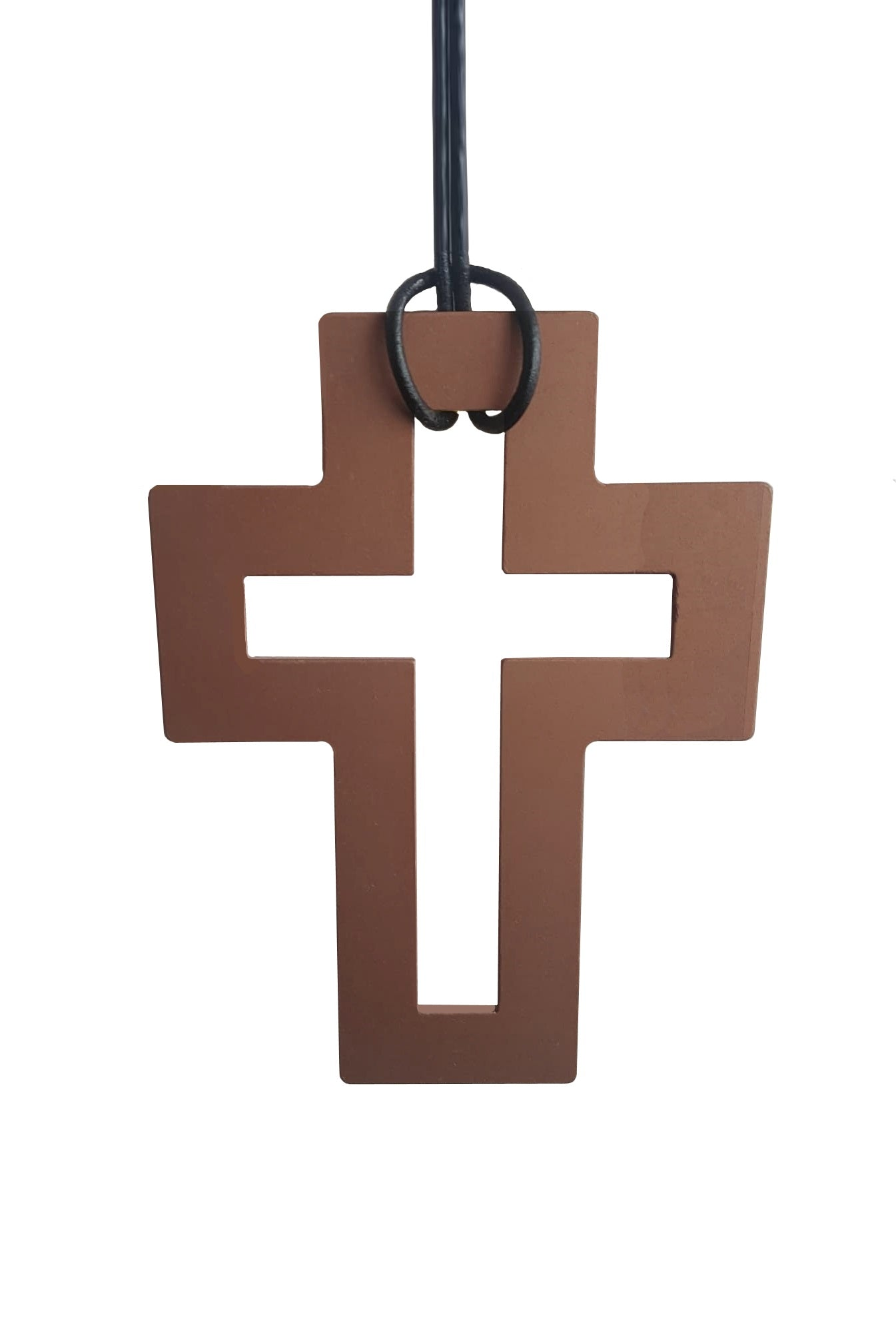 Two Blonde Bobs - AAB001 Large Bronze Cross Necklace