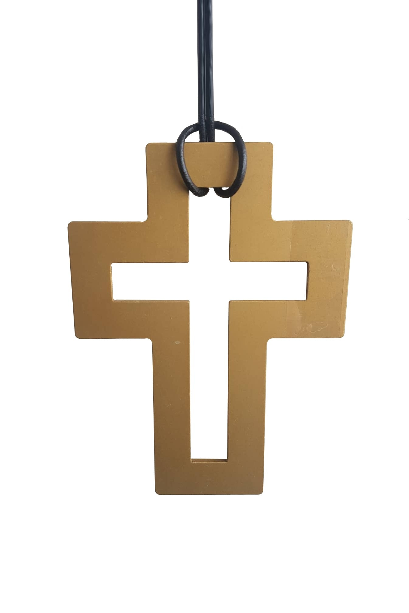 Two Blonde Bobs - AAG001 Large Gold Cross Necklace