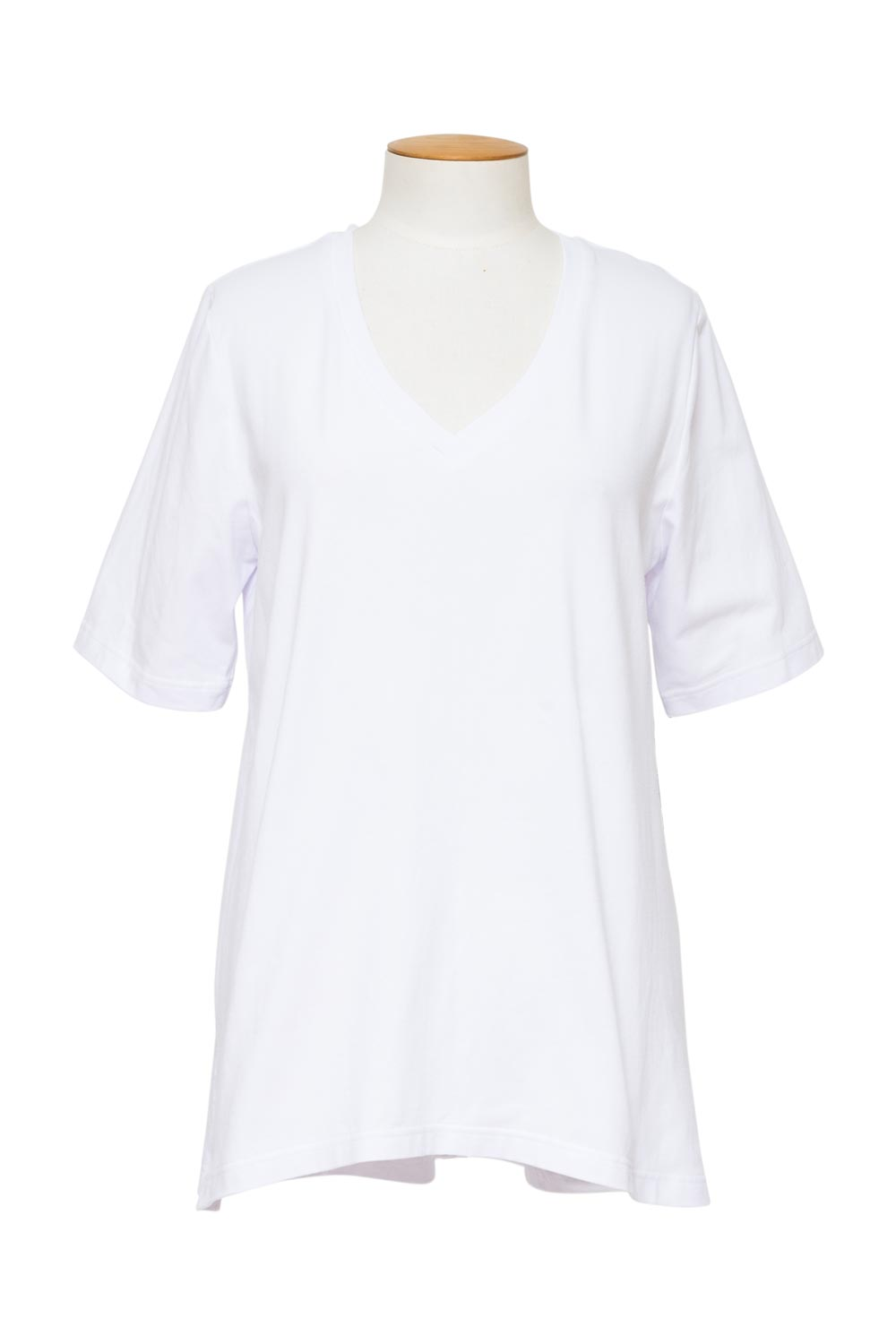 cashews-long-v-shirt-white