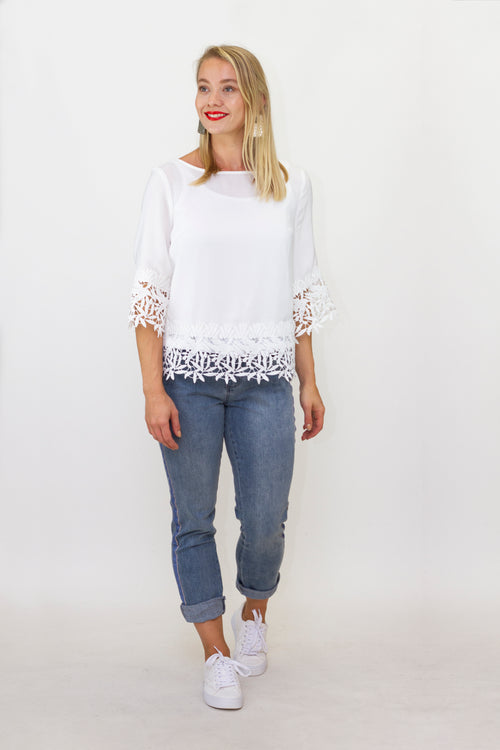 Joseph Ribkoff - 212033 Lace Trim Top
