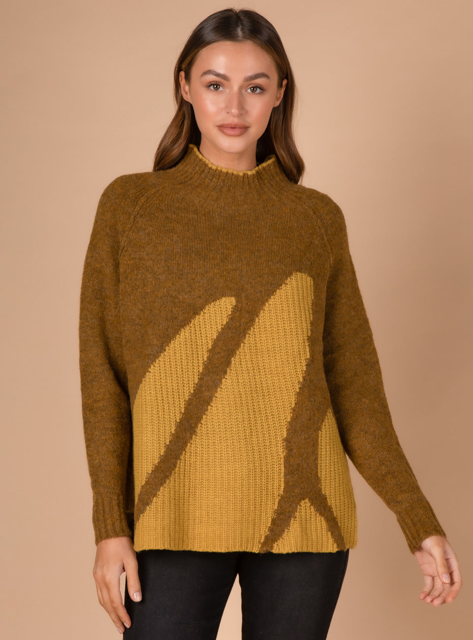 LD and C - LC3173 Rib Intarsia Knit