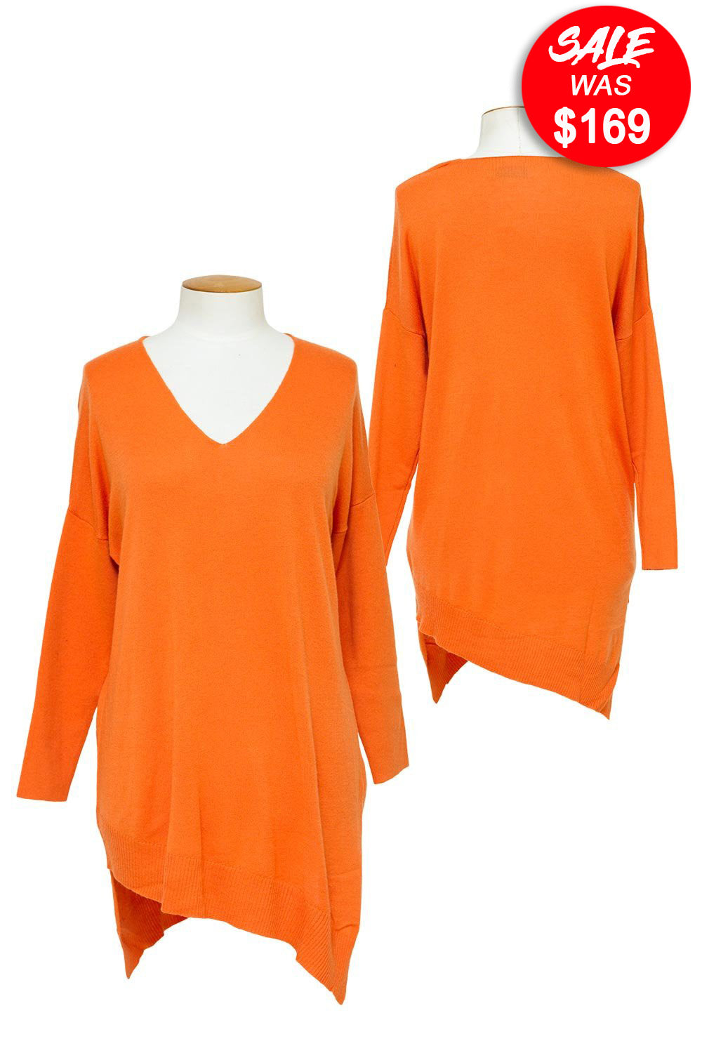LD & C - LC2065 Asymmetric V/Neck Tunic