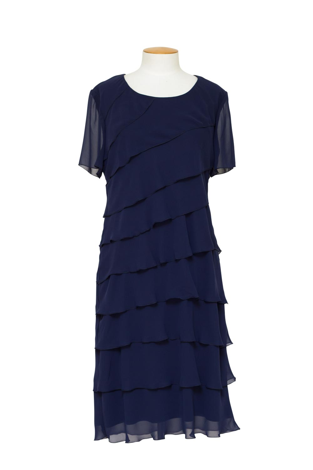 Layla Jones / Jesse Harper (LJ0002/JH0072) - Short Sleeve Chiffon Layer Dress