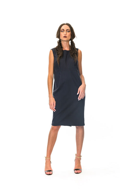 Megan Salmon - M8511 Somersault Taylored Shift Dress