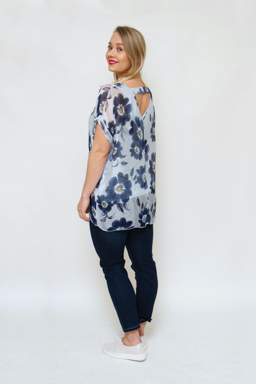 Made in Italy - 20/6693M Floral Top
