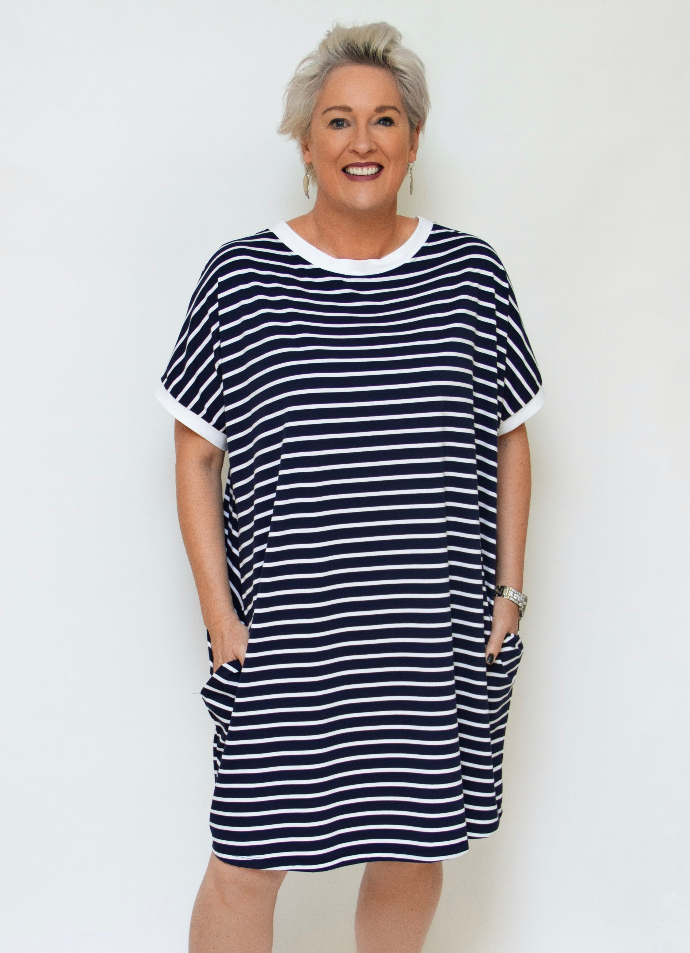 Baker Street - 5063 Stripe Dress