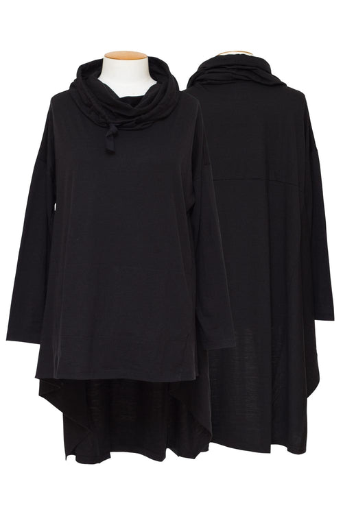 OBR Merino - 4082 Hooded Asymmetric Top