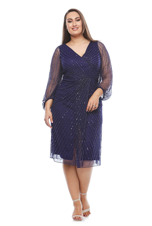 Layla Jones / Jesse Harper JH0335 - Beaded Cross Over Dress