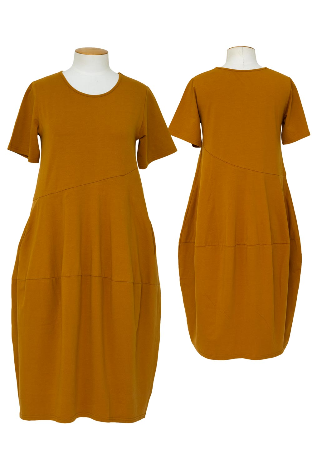 tirelli-short-sleeve-diagonal-dress