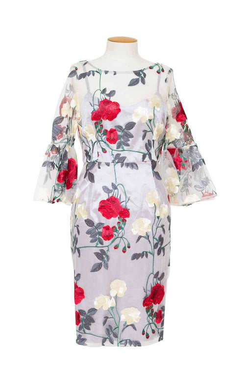 studio-s-flared-sleeve-dress