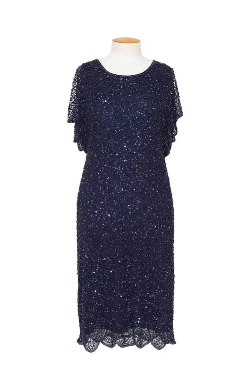 Layla Jones - LJ0088 - Cap Sleeved Beaded Dress