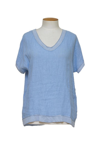 Marco Polo - YTMS04251 3/4 Relaxed Sheer Striped Tunic