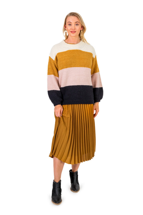 Berlin - D210 Oversize Colour Block Jumper