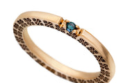 Gold Ring with Blue Diamond - Fairy Ring
