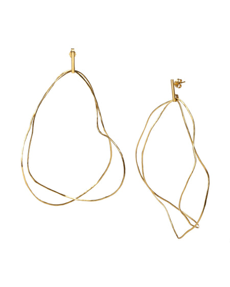Gold plated Silver Earrings - Cloud roads