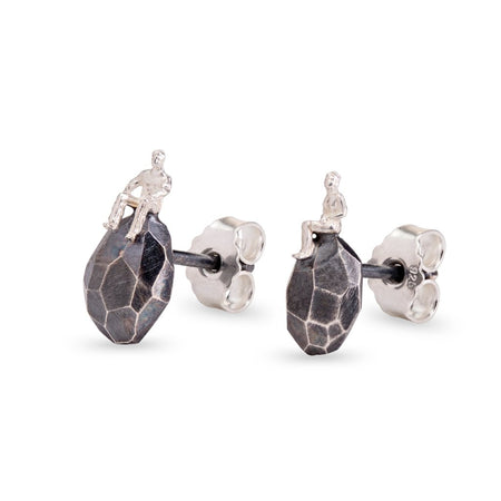The Oxidized Silver Earrings - The Advisers