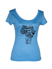 African Apparel Signature Scooped Neck Ladies' T